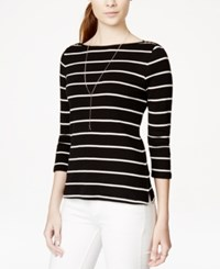 Maison Jules Three Quarter Sleeve Boat Neck Tee Only At Macy's