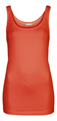 Sandwich Sleeveless Vest Orange