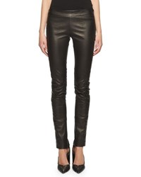 Tom Ford Seamed Stretch Leather Leggings Black