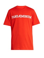 Oamc Pandaemonium Print Cotton T Shirt Red