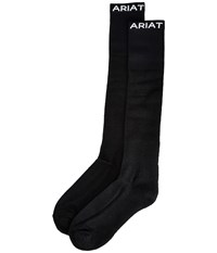 Ariat Over The Calf Boot Socks Black Crew Cut Socks Shoes