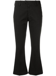 Dondup Flared Crop Trousers Black