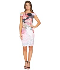 Ted Baker Emly Painted Posie Off Shoulder Dress Baby Pink Women's Dress