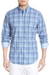 Tailorbyrd 'Sequoia' Regular Fit Long Sleeve Plaid Sport Shirt Big And Tall Blue