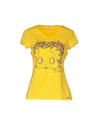 Ice Iceberg Topwear T Shirts Women Yellow