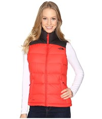 The North Face Nuptse 2 Vest High Risk Red Tnf Black Women's Vest