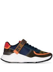 Burberry Ronnie Touch Strap Sneakers 1009 Blue Khaki