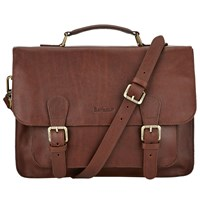 Barbour Leather Satchel Brown