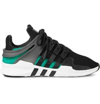 Adidas Originals Eqt Support Adv Rubber And Faux Suede Trimmed Mesh Sneakers Black