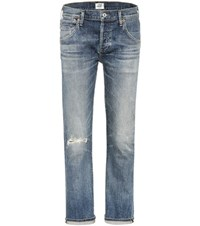 Citizens Of Humanity Emerson Distressed Boyfriend Jeans Blue