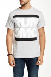 Bravado Run Dmc Greyscale Logo Graphic Tee Gray