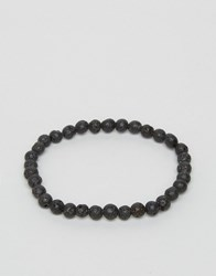 Jack And Jones Jacbob Beaded Bracelet In Black Black