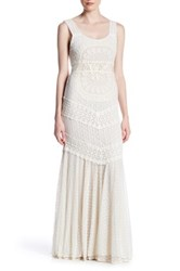 Alice Olivia Kimberley Lace And Crochet Maxi Dress White