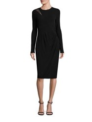 Elie Tahari Saniya Matte Jersey Dress Black
