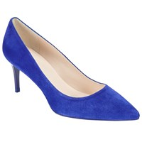 John Lewis Ariana Stiletto Heeled Court Shoes Blue Suede