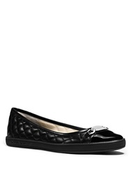 Michael Michael Kors Lainey Quilted Leather Ballet Flats Black