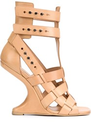 Rick Owens 'Cyclops Cantilevered' Sandals Nude And Neutrals