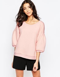 Traffic People Hold Me Top In Quilted Fabric Pink