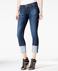 Hudson Jeans Muse Cuffed Skinny Dark Mosaic Wash Jeans