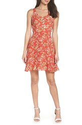 19 Cooper Floral Ruffle Sundress Red