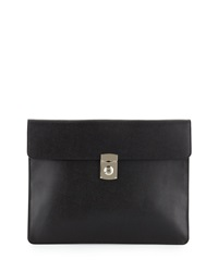 Royce Leather Rfid Blocking Executive Leather Underarm Portfolio Brief Black