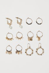 Handm H M 6 Pairs Earrings Gold