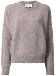 Studio Nicholson Cropped Jumper Brown