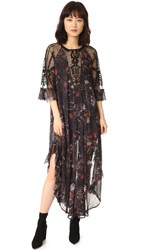 Free People Spirit Of The Maxi Dress Black Combo