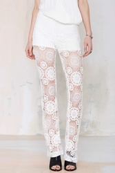 Nasty Gal Raga Lovely Lace Flare Pants