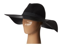Bcbgmaxazria Pleather Felt Floppy Black Traditional Hats
