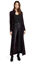Temperley London Jani Belted Coat Plum Black