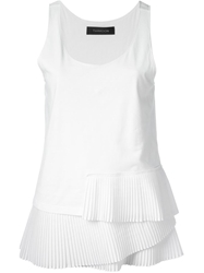 Thakoon Pleated Tank White