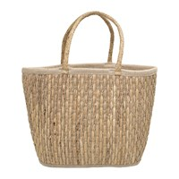 Bloomingville Lined Seagrass Basket Natural