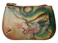 Anuschka 1107 Hidden Dragon Coin Purse Beige