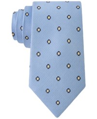 Club Room Men's Neat Floral Print Classic Tie Only At Macy's Blue