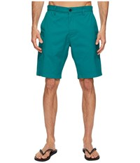 Rvca Weekend Hybrid Ii Teal Men's Shorts Blue