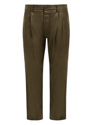 Maharishi Straight Leg Cotton Chino Trousers Khaki