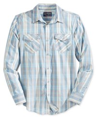 American Rag Men's Dawn Plaid Shirt Only At Macy's Blue Combo