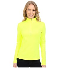 Spyder Savona Therma Stretch T Neck Bryte Yellow Women's Long Sleeve Pullover