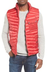 Ben Sherman Men's Water Resistant Down Vest Red