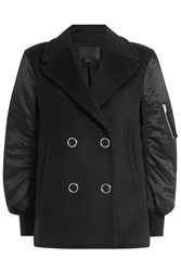 Alexander Wang Pea Coat Bomber Jacket With Wool And Cashmere Black