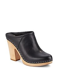 Dolce Vita Ackley Leather Clogs Black