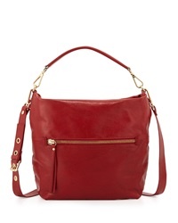 Neiman Marcus Sauvage Zip Top Hobo Bag Rosso Red