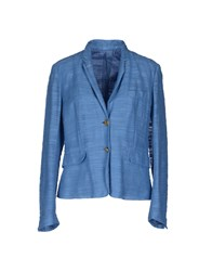 M.Grifoni Denim Suits And Jackets Blazers Women Sky Blue
