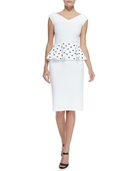 La Petite Robe Di Chiara Boni Mariarita Cocktail Dress W Polka Dot Peplum Women's