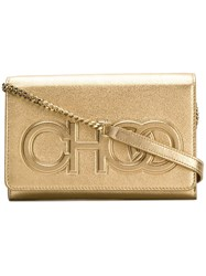 Jimmy Choo Sonia Crossbody Bag Gold