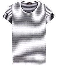 Loro Piana Striped Cashmere Top White