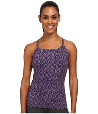 Prana Quinn Top Plum Baleen Women's Workout Purple