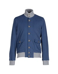 Capobianco Coats And Jackets Jackets Men Slate Blue