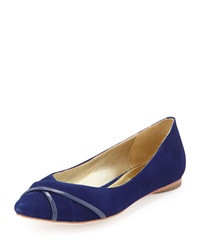 Elaine Turner Designs Kendall Suede Leather Ballet Flat Cobalt